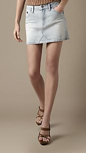 Power-Stretch Denim Skirt