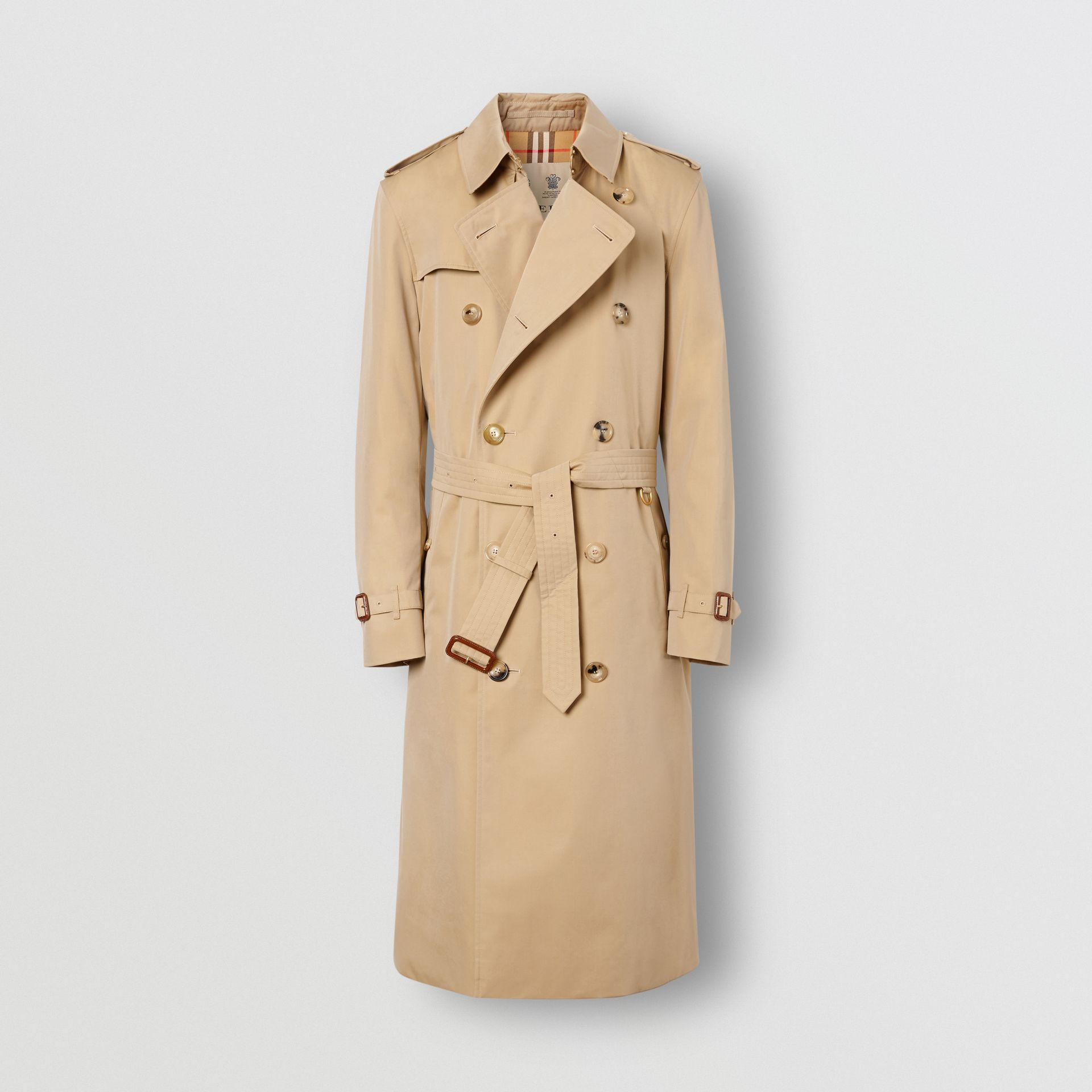 The Long Kensington Heritage Trench Coat in Honey - Men | Burberry - gallery image 8