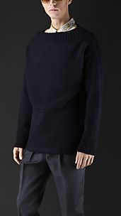 Virgin Wool Guernsey Sweater
