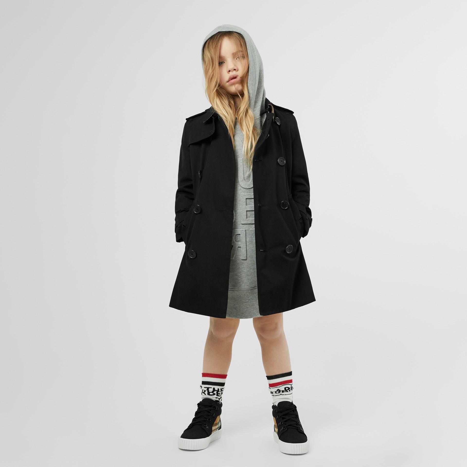 Trench coat en algodón de gabardina (Negro) | Burberry - imagen de la galería 2