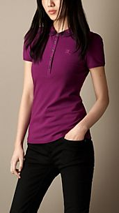 Check Collar Polo Shirt