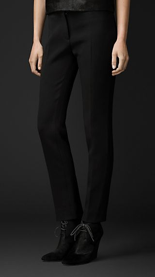 Stretch-Crêpe Dress Trousers