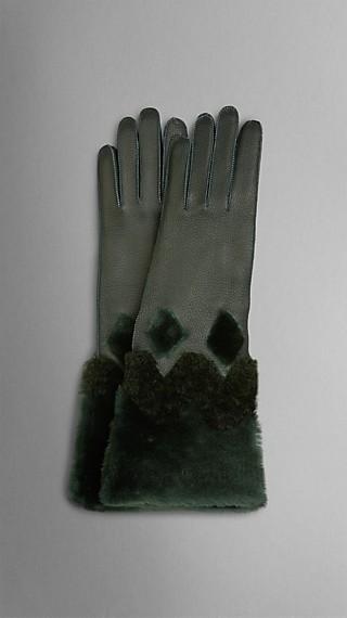 Shearling Cuff Deerskin Gloves