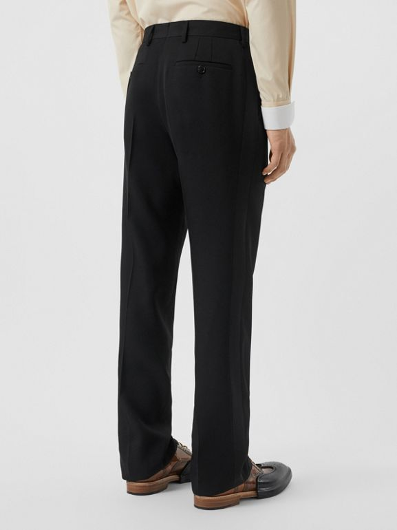 Classic Fit Wool Tailored Trousers in Black - Men | Burberry United Kingdom - cell image 1