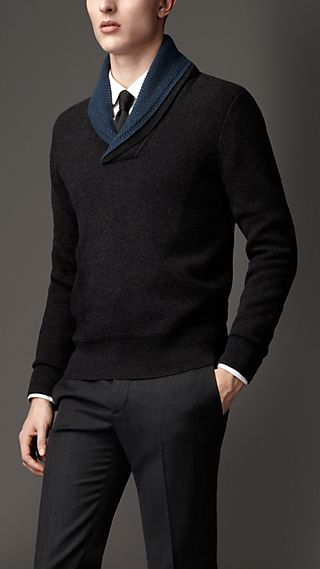 Shawl Collar Double Cashmere Sweater
