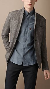 Wool and Angora Blend Blazer