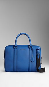 Colour Coated London Leather Crossbody Briefcase