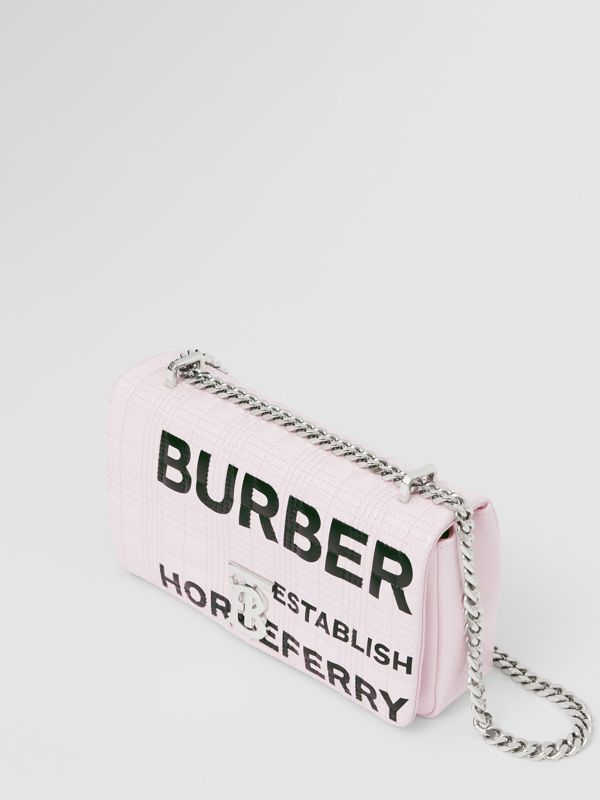 Small Horseferry Print Quilted Lola Bag in Pastel Pink - Women | Burberry - cell image 2