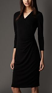 Ruched Crossover Dress