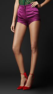 Double Duchess Silk Satin Shorts