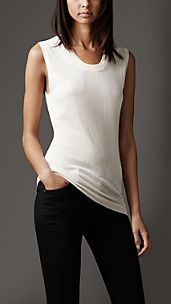 Ribbed Silk Vest