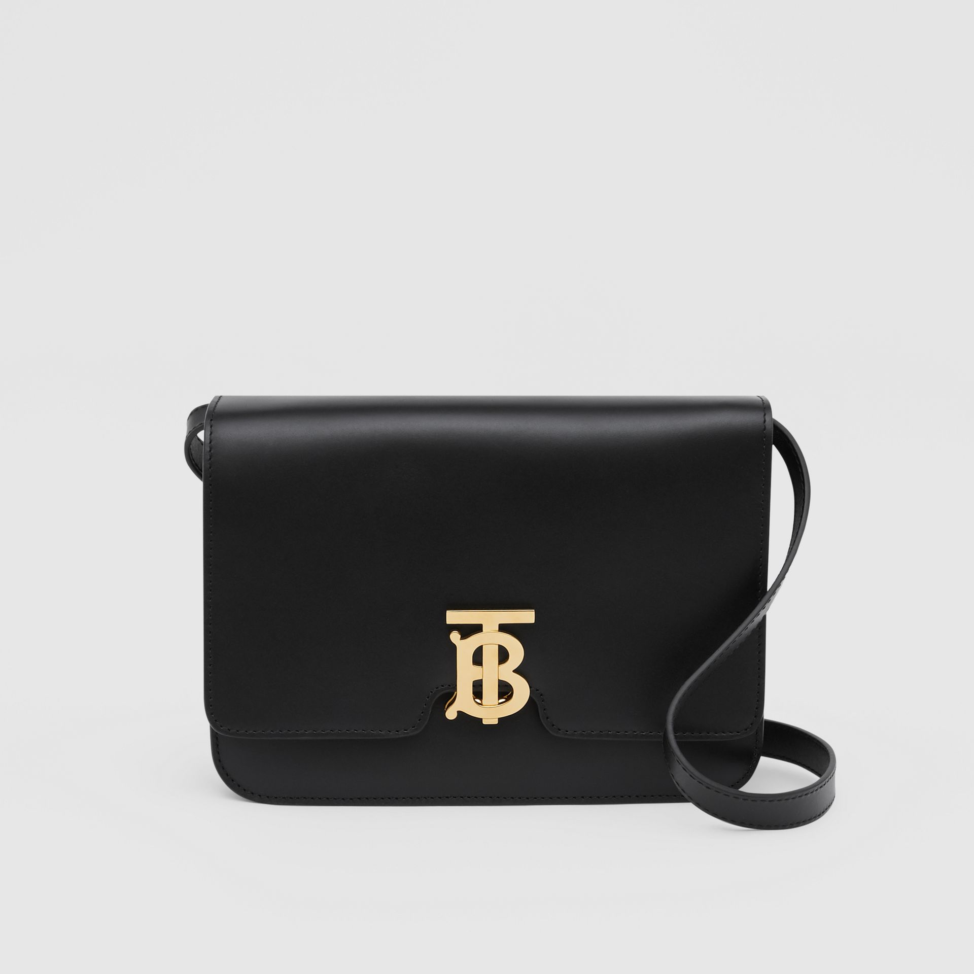 Medium Leather TB Bag in Black - Women | Burberry - gallery image 0