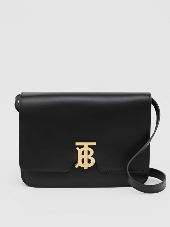 Medium Leather TB Bag in Black