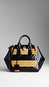 Medium Quilt Detail Leather Tote Bag