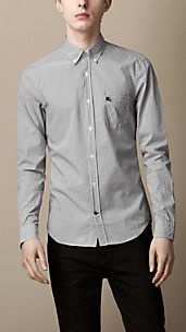 Micro Check Cotton Shirt