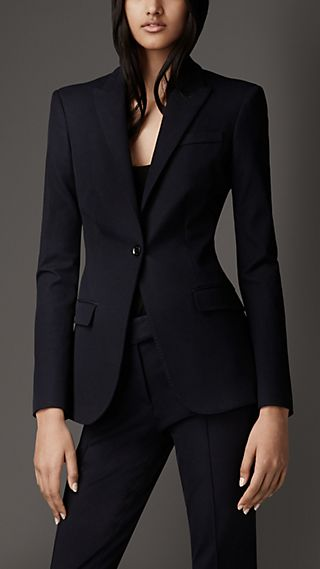 Tailored Cotton Twill Jacket