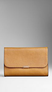 Heritage Grain Leather Clutch Bag