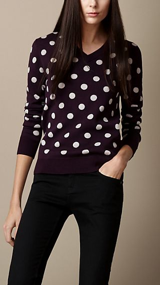 Knitted Polka Dot Sweater