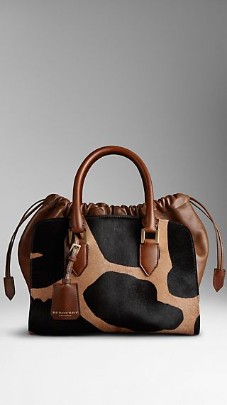 Medium Animal Print Calfskin Bag