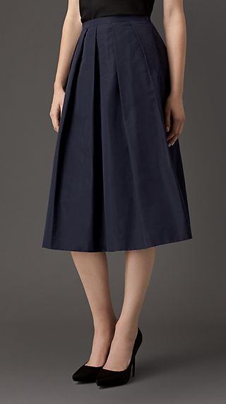 Pleat Detail Full Skirt