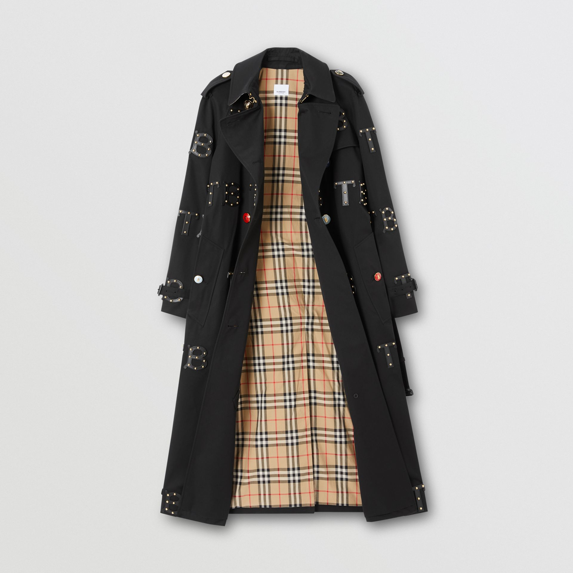 The Long Waterloo Trench Coat in Black | Burberry Australia - gallery image 2