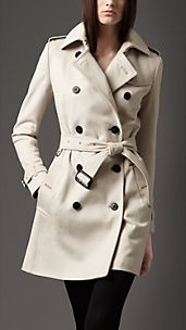 Trench coat medio in lana e cashmere