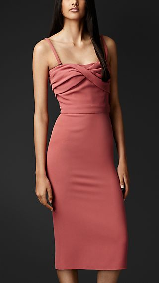 Wrapped Bodice Crêpe Dress