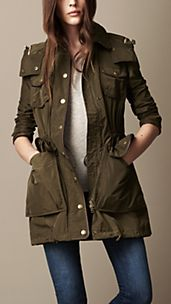 Technical Taffeta Drawcord Parka