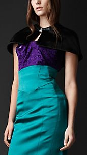 Tailored Satin Capelet