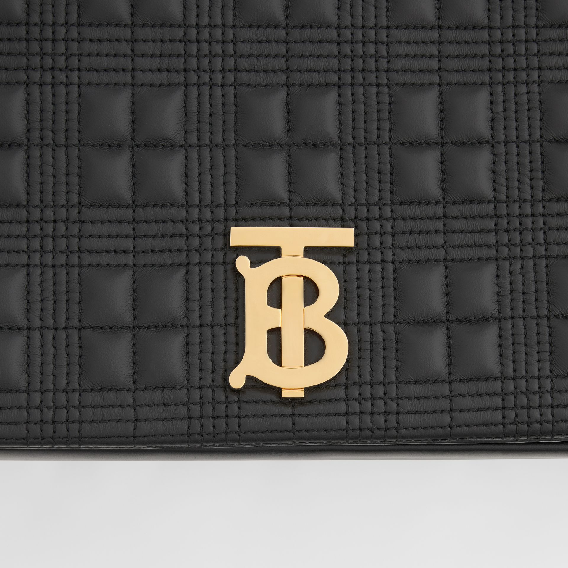 Extra Large Quilted Lambskin Lola Bag in Black - Women | Burberry - gallery image 9