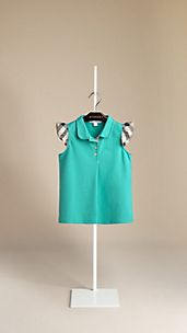 Check Sleeve Polo Shirt