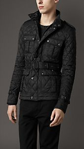 Suede Detail Quilted Jacket