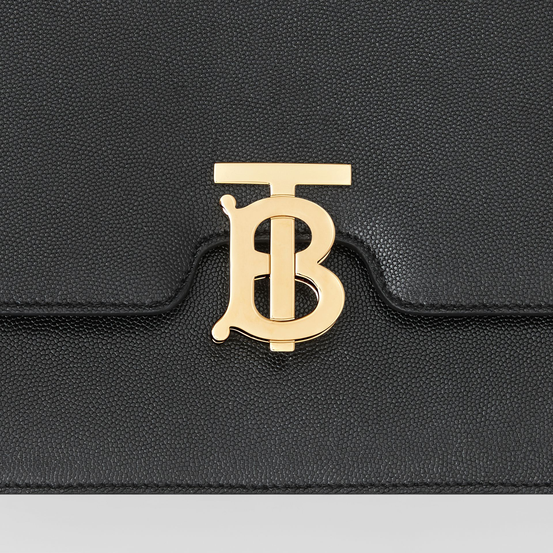 Small Grainy Leather TB Bag in Black - Women | Burberry - gallery image 1
