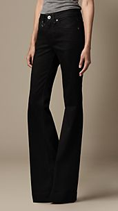 Black Wash Flare Fit Jeans