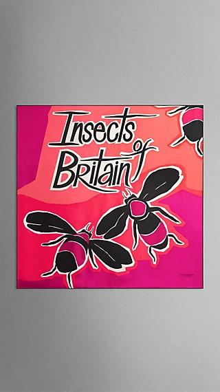 Seidenkarree mit Insects of Britain-Druck – mittelgroß