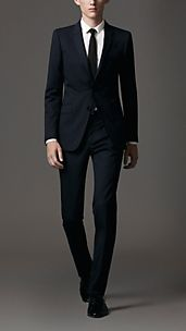 Slim Fit Virgin Wool Prince Of Wales Check Suit