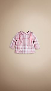Check Pin Pleat Blouse