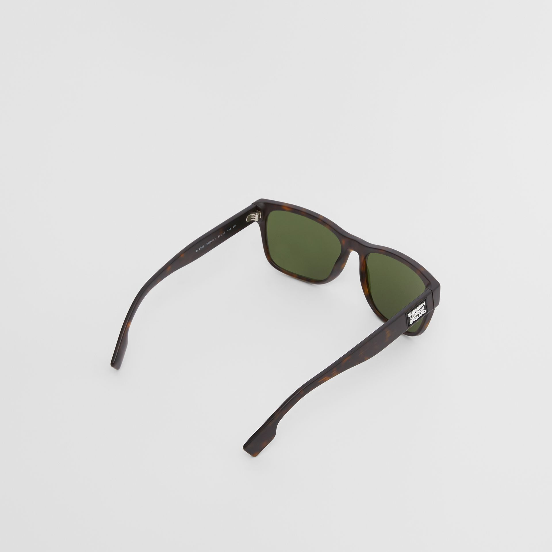 Óculos de sol com armação quadrada e logotipo (Casco  Tartaruga) | Burberry - galeria de imagens 4