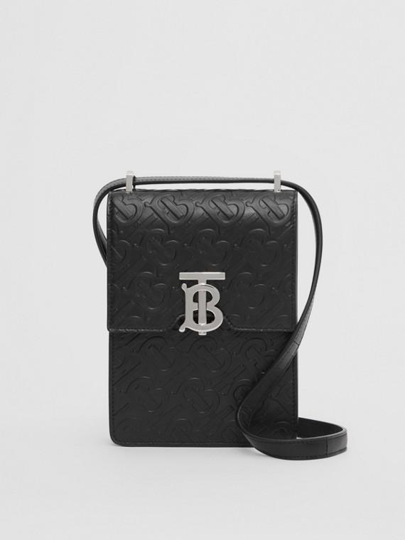 Monogram Leather Robin Bag in Black