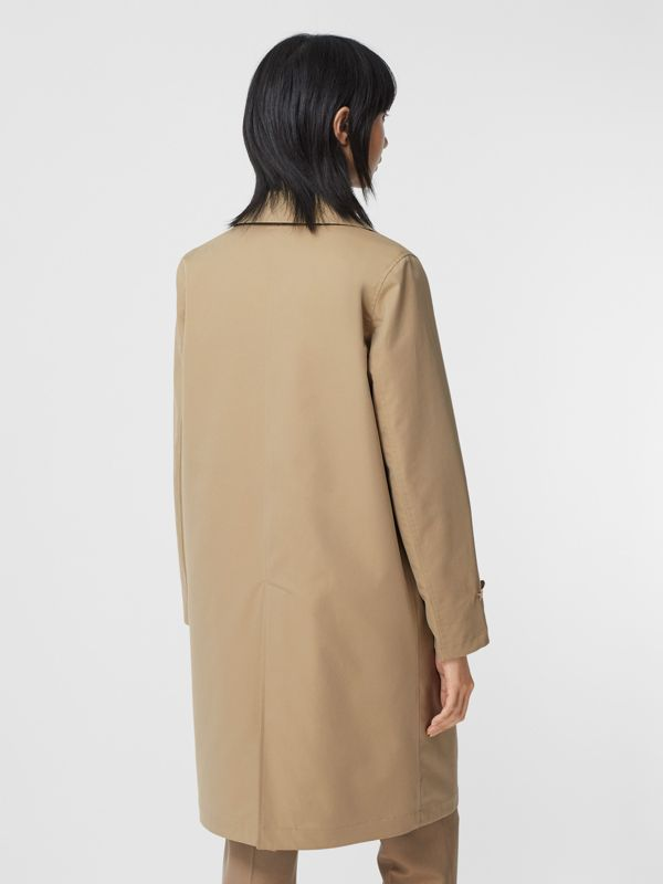 Reversible Cotton and Recycled Polyester Car Coat in Honey - Women | Burberry Canada - cell image 2