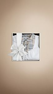 Check Detail Sleepsuit Baby Gift Set