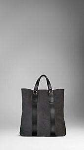 Hunting Suede Tote Bag