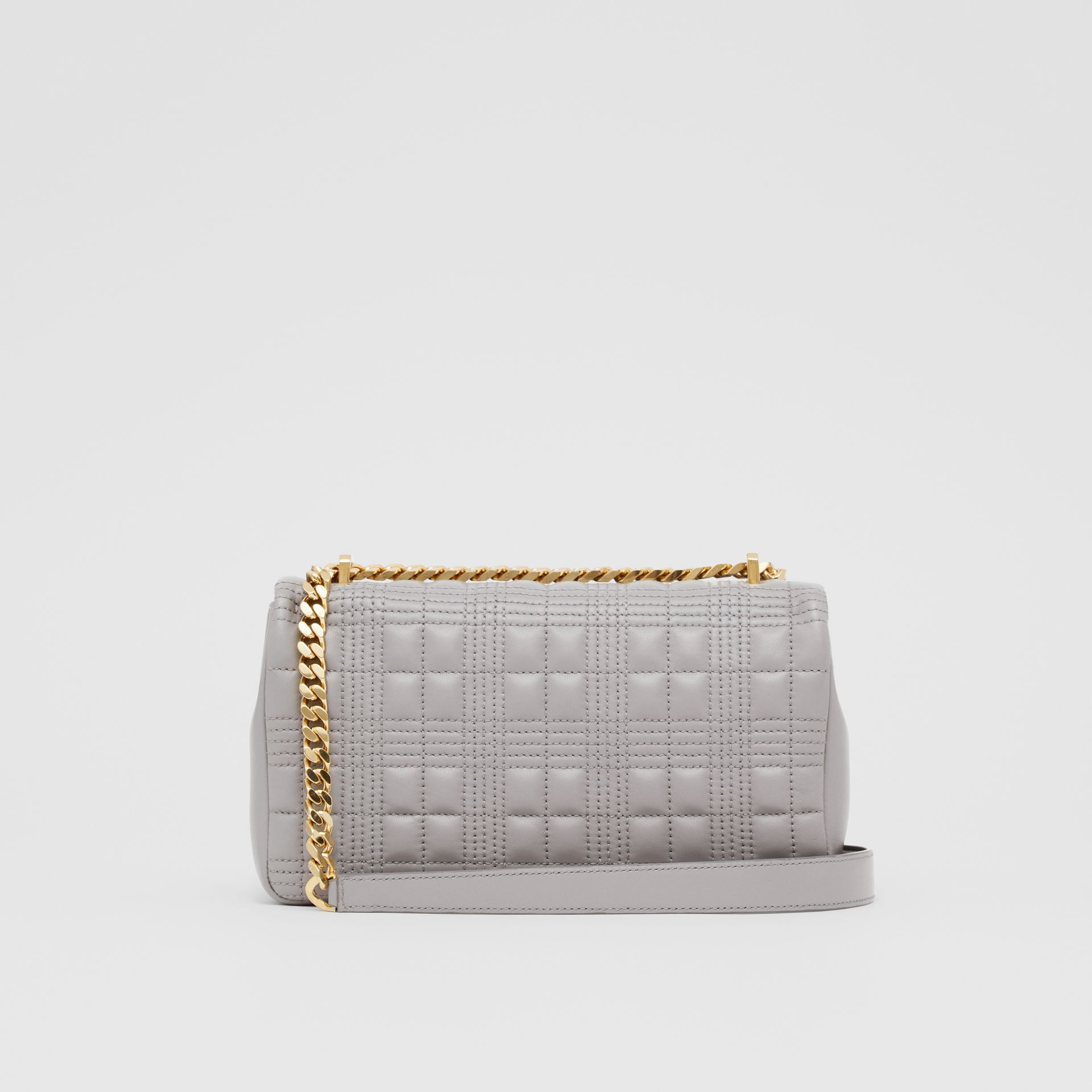 Small Quilted Lambskin Lola Bag in Cloud Grey | Burberry - gallery image 9