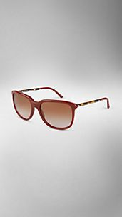 Tortoiseshell Arm Square Frame Sunglasses