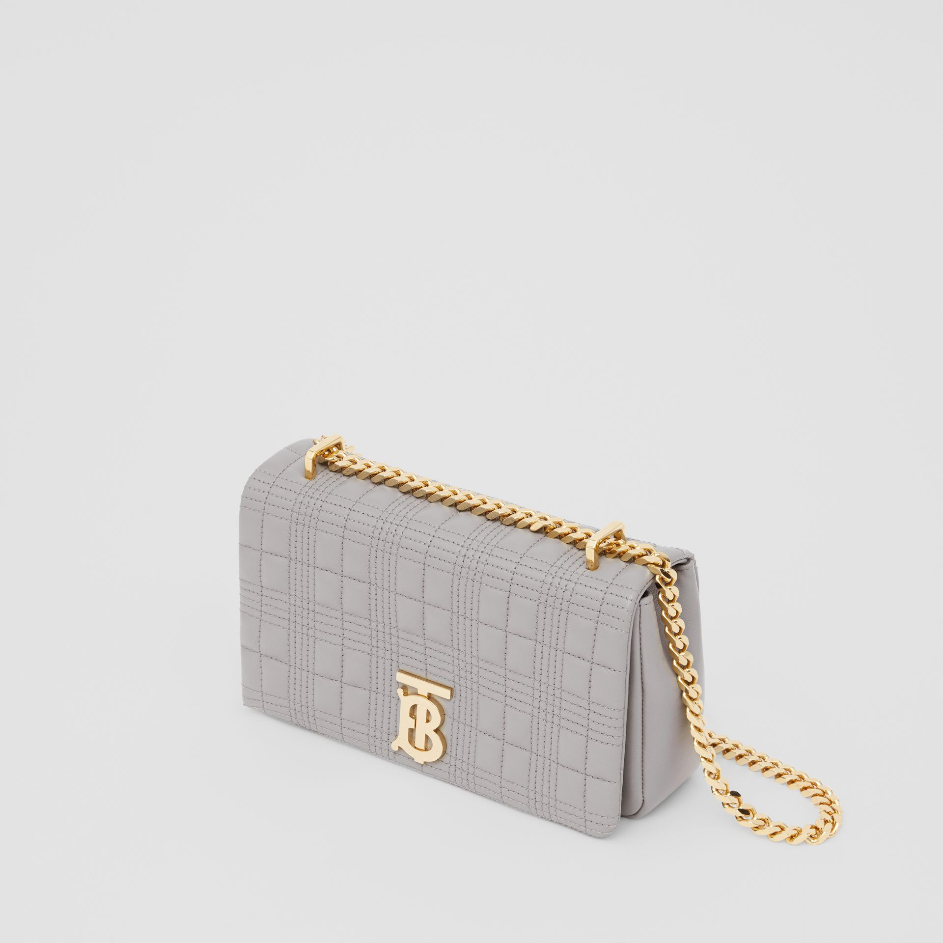 Small Quilted Lambskin Lola Bag in Cloud Grey | Burberry - gallery image 4