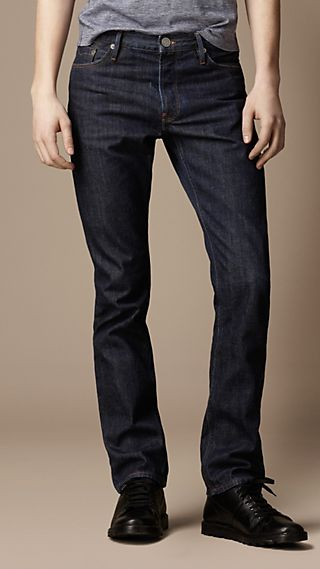 Swaine Indigo Rinse Tapered Fit Jeans