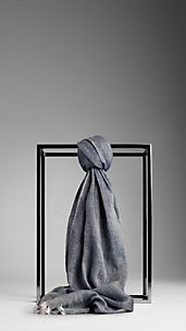 Linen Cotton Graphic Print Scarf