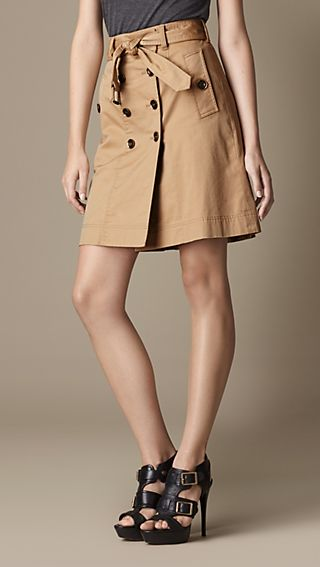 Regimental Pleat High-Waist Skirt