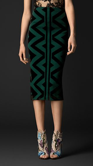 Knitted Blanket Pencil Skirt