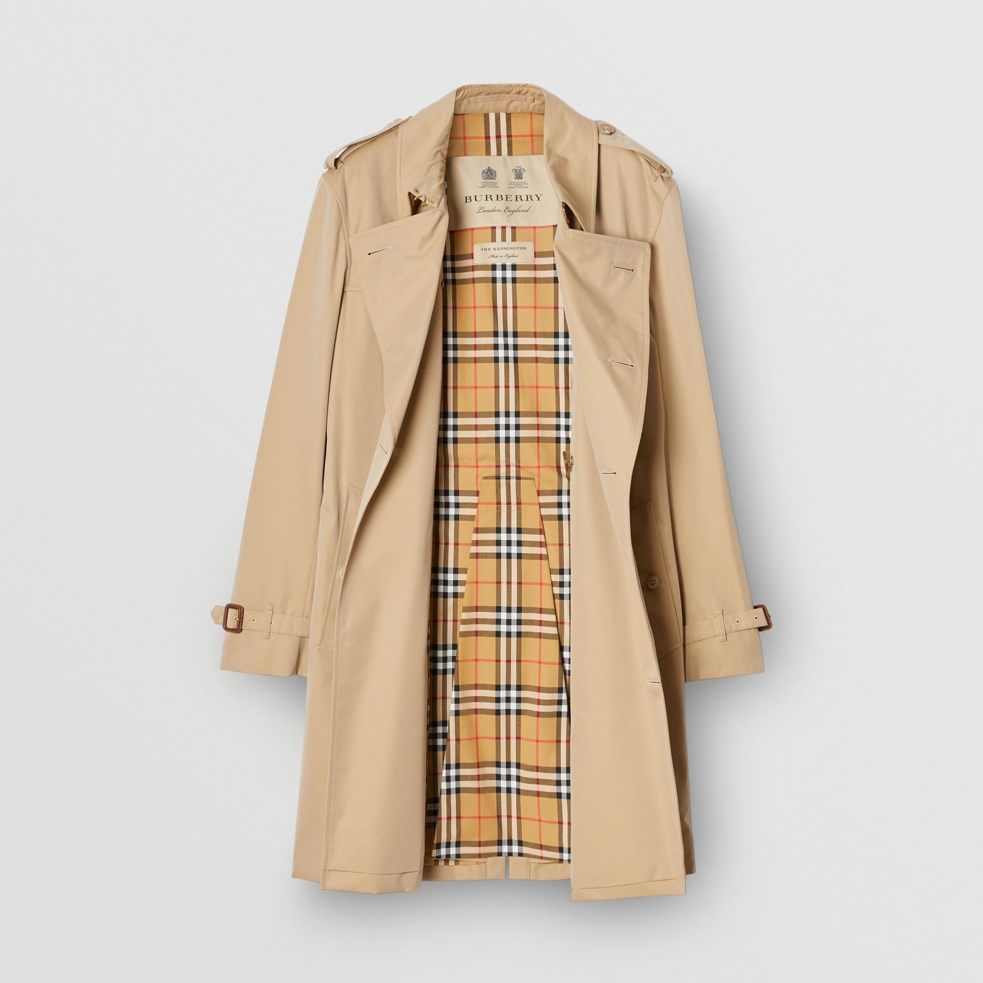 The Mid-length Kensington Heritage Trench Coat in Honey - Men   Burberry - gallery image 8